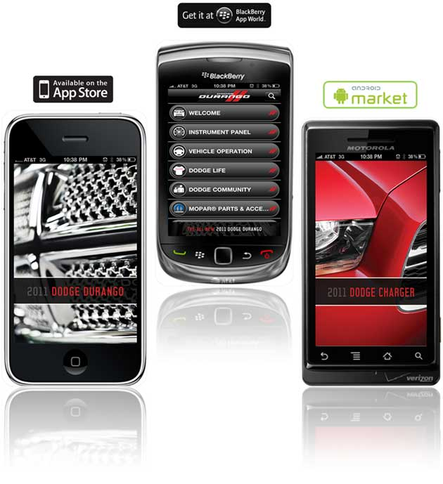 Dodge smartphone applications