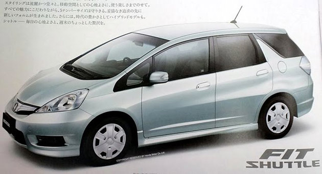 Honda Fit Shuttle brochure scan