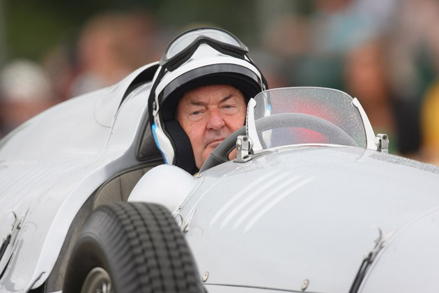 Nick Mason drives the 1937 Auto Union Type D at Goodwood