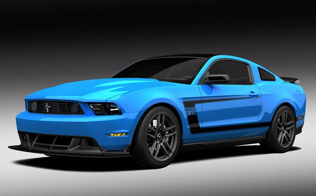 2012 Ford Mustang Boss 302 in Grabber Blue