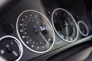 2011 Aston Martin V12 Vantage gauges
