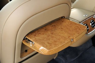 2011 Bentley Mulsanne rear seat table