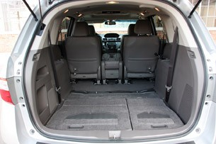 2011 Honda Odyssey rear cargo area