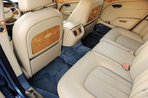 2011 Bentley Mulsanne rear seats