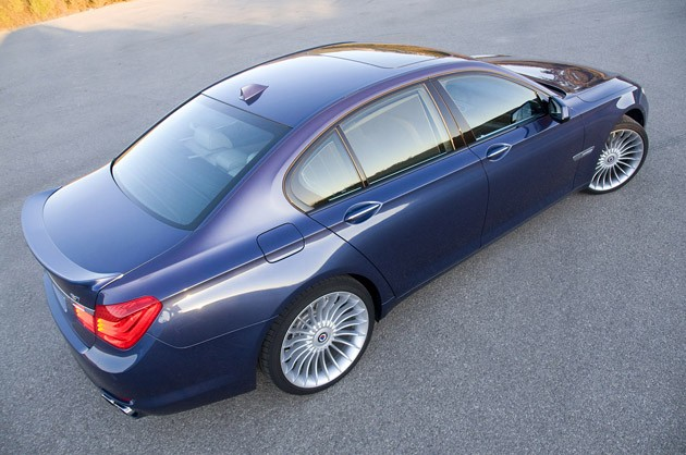 2011 BMW Alpina B7 rear 3/4 view