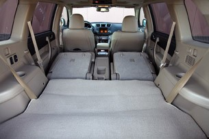 2011 Toyota Highlander rear cargo area