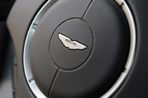 2011 Aston Martin V12 Vantage steering wheel detail