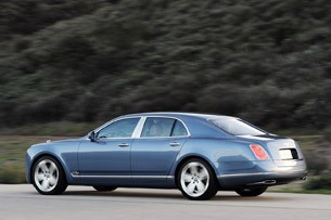 2011 Bentley Mulsanne rear 3/4 driving view
