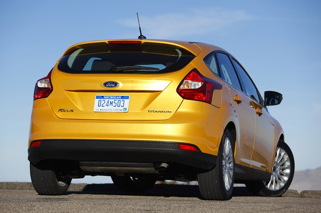 2012 Ford Focus rear 3/4 view