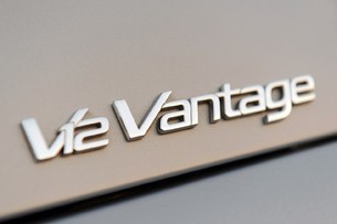 2011 Aston Martin V12 Vantage badge