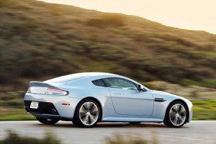 2011 Aston Martin V12 Vantage rear 3/4 driving view