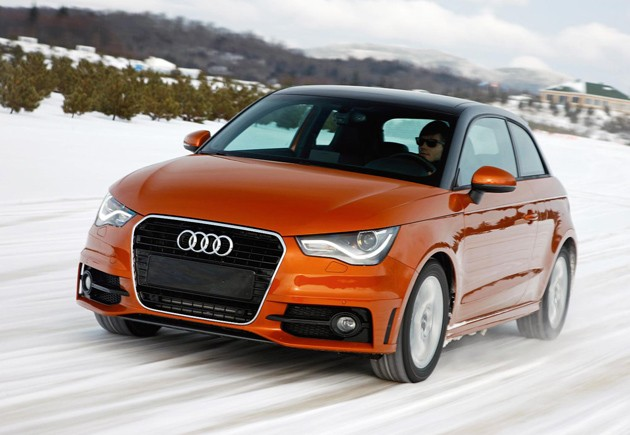 Audi A1 quattro in the snow