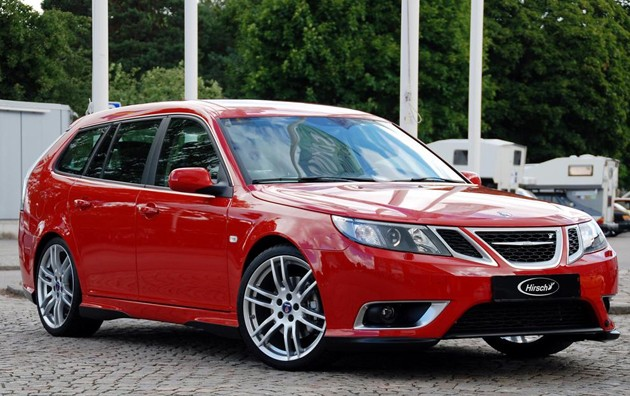 Saab 9-5 SportCombi with Hirsch body-kit
