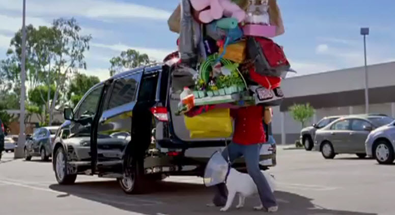Nissan Quest in new commercial