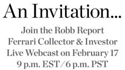 Robb Report Ferrari Invitation