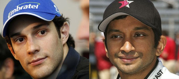 Bruno Senna and Narain Karthikeyan