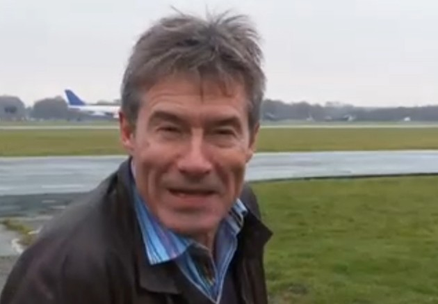 Tiff Needell on set at Top Gear