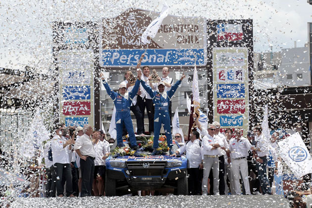 Volkswagen on the podium in Dakar