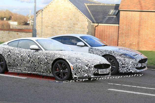 spy shots: jaguar xkr and super xk-r xk-e