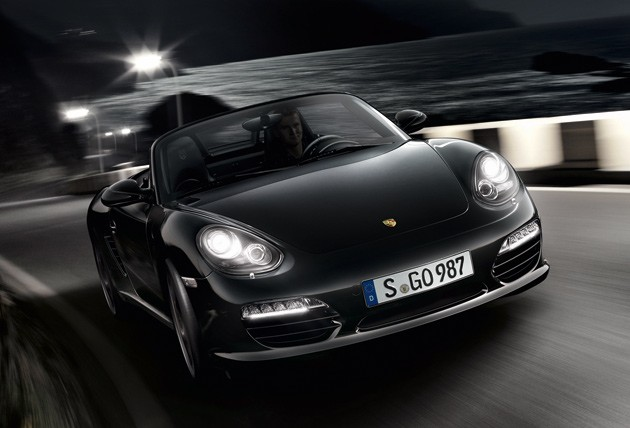 2012 porsche boxster s black edition gets horsepower bump sinister styling. Black Bedroom Furniture Sets. Home Design Ideas
