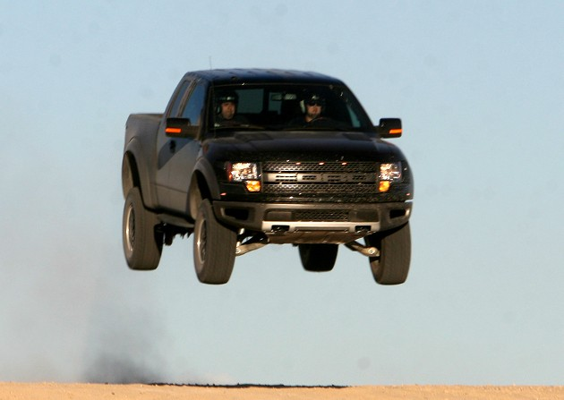 Vaughn Gittin Jr. in the Ford F150 SVT Raptor - Click above for high