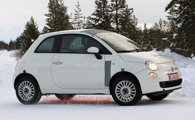 Fiat 500 AWD spy shots