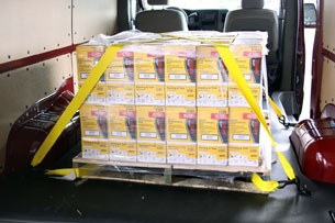 2012 Nissan NV with pallet