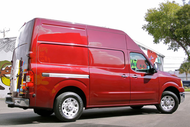 2012 Nissan NV rear 3/4 view