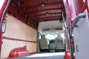 2012 Nissan NV High Roof cargo space