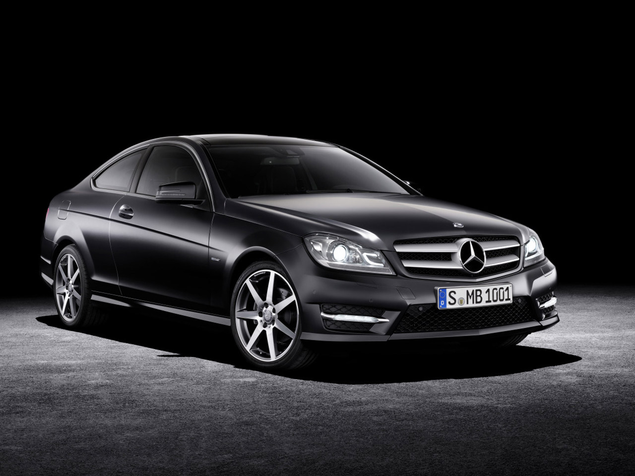 2012 mercedes classe c coup dark cars wallpapers. Black Bedroom Furniture Sets. Home Design Ideas