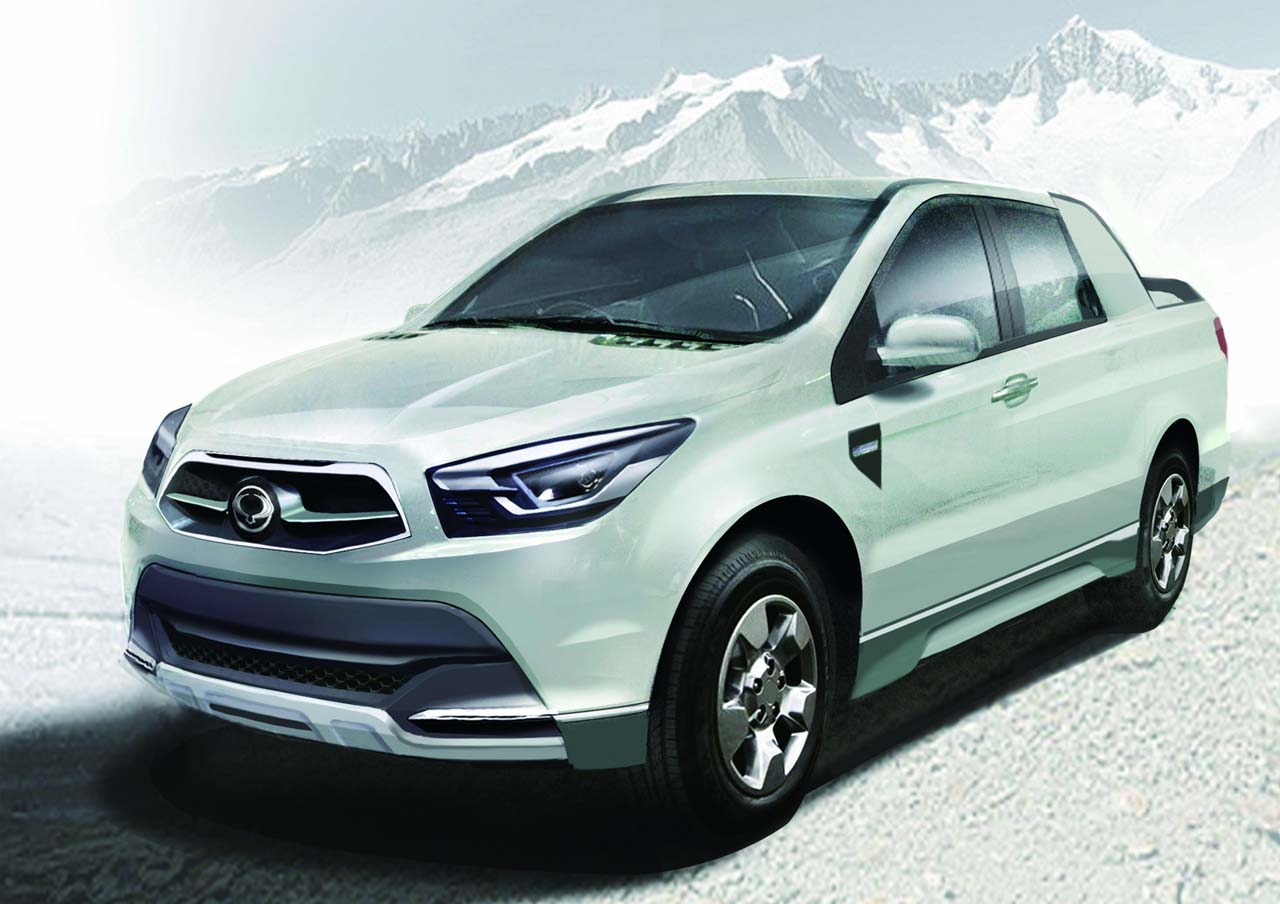 ssangyong sut 1 pick up ssangyong ridgeline actyon sut 1 concept. Black Bedroom Furniture Sets. Home Design Ideas