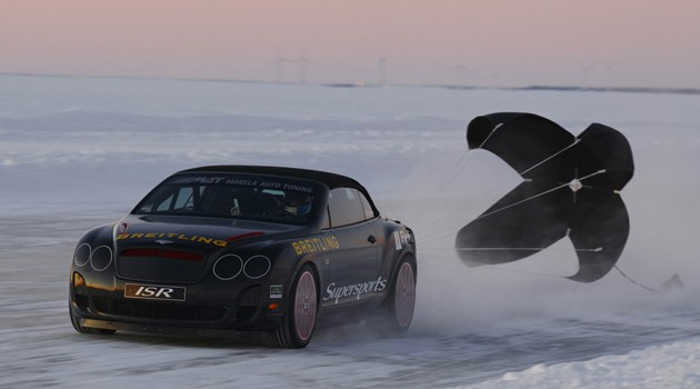 Bentley Continental speed record on ice