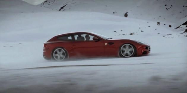 Ferrari FF on snow