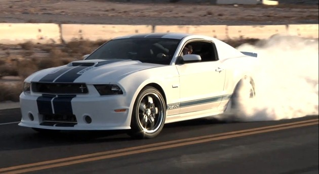 2011 Shelby GT350 burnout