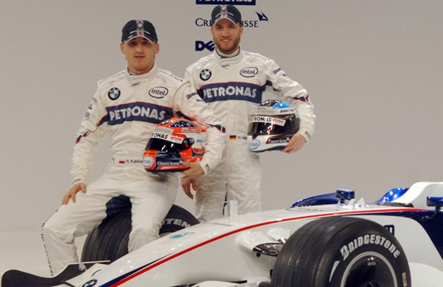 Robert Kubica and Nick Heidfeld launch the BMW Sauber F1.09