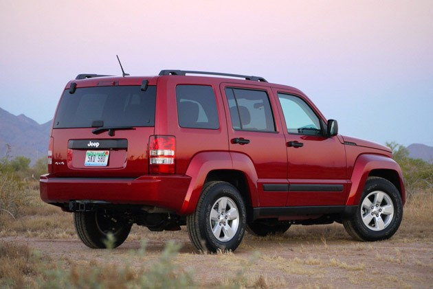 2010 Jeep Liberty Sport rear 3/4 view