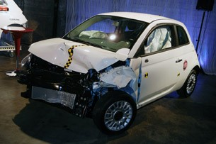 2012 Fiat 500 crash test demo