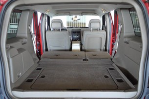 2010 Jeep Liberty Sport rear cargo area