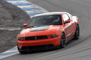 2012 Ford Mustang Boss 302 on track