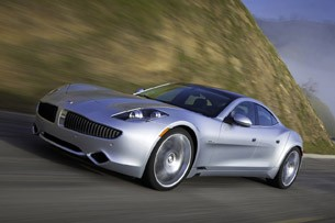 2012 Fisker Karma front 3/4 driving view