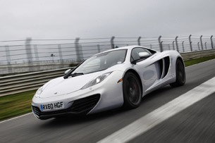 2012 McLaren MP4-12C front 3/4 driving view