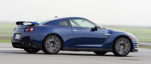 2012 Nissan GT-R driving on track