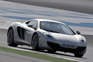 2012 McLaren MP4-12C driving on track