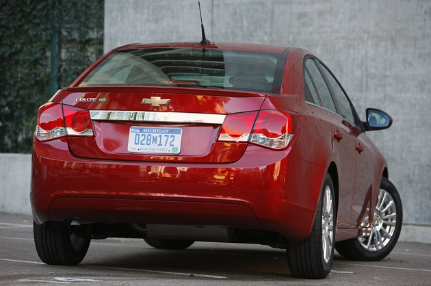 2011 Chevrolet Cruze Eco rear 3/4 view