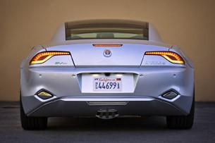 2012 Fisker Karma rear view