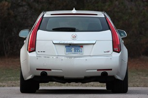 2011 Cadillac CTS-V Sport Wagon rear view