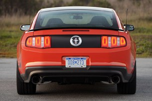 2012 Ford Mustang Boss 302 rear view