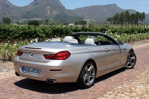 2012 BMW 6-Series Convertible rear 3/4 view