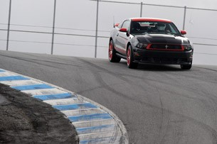 2012 Ford Mustang Boss 302 Laguna Seca on track