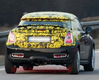 2012 Mini Cooper Coupe spy shot